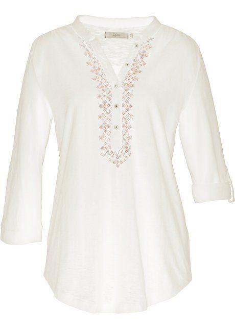 Shirt, bpc bonprix collection, wolwit met print