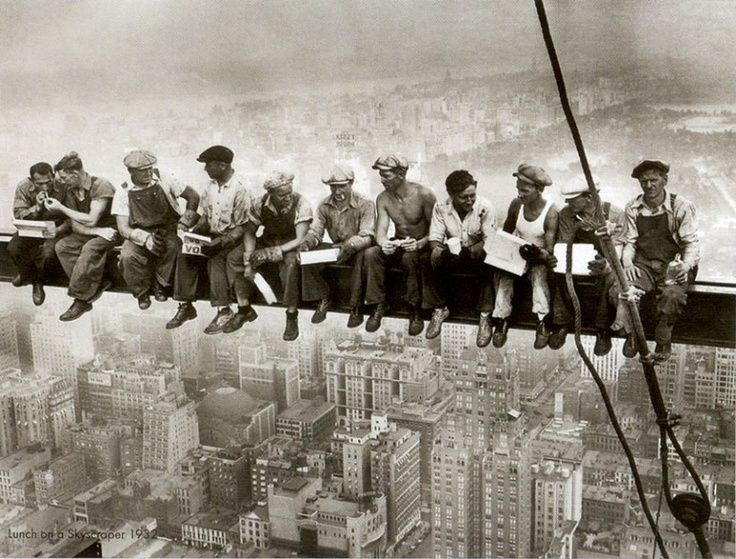 Lunch atop a Skyscraper, 1932 - by Charles Clyde Ebbets (1905 – 1978), USA