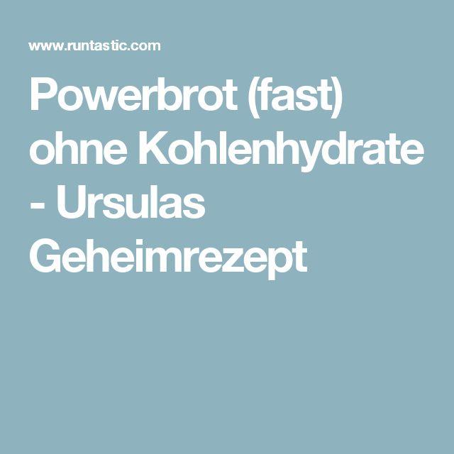 Powerbrot (fast) ohne Kohlenhydrate - Ursulas Geheimrezept