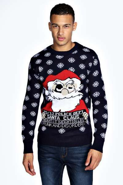 Christmas Drunk Santa Jumper