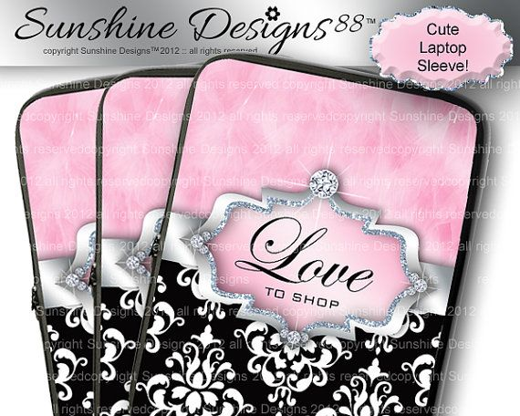 Funny Laptop Sleeve Mac 13 Case Cover Cute by SunshineDesigns88, $34.98