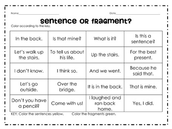 Worksheets Sentence Fragment Worksheets 1000 ideas about sentence fragments on pinterest incomplete complete or fragment