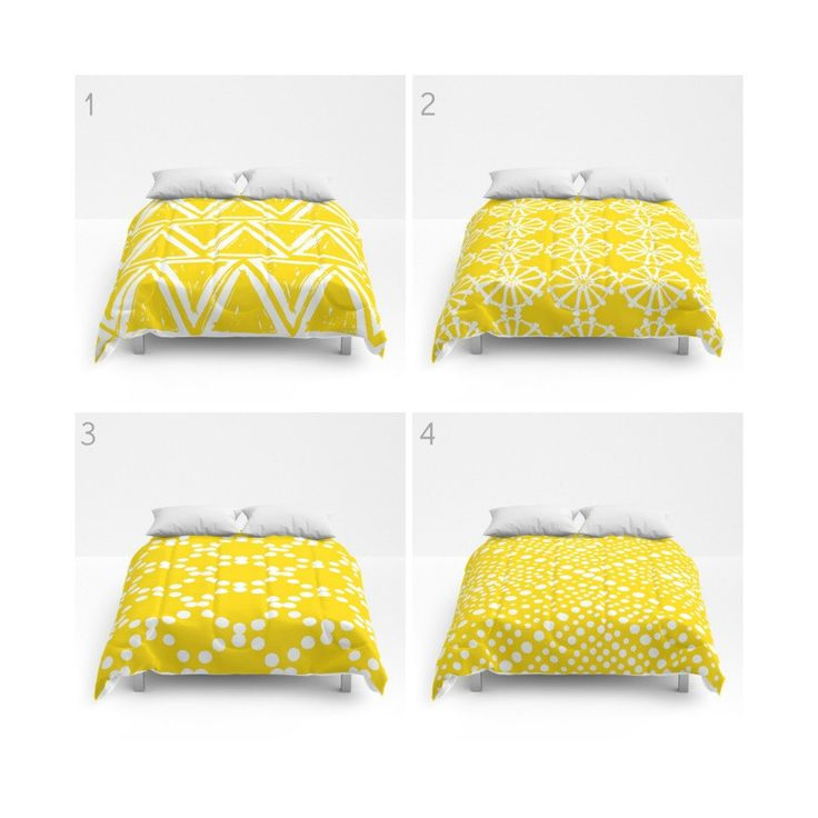 Yellow and White Comforter - Queen Comforter - King Comforter - Full Comforter - Geometric Triangle Circle Dot  Bedding Bedspread Bed cover by ButtercupForrest on Etsy