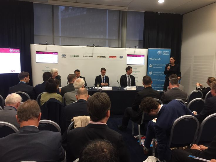 Our General Counsel Juliet Oliver gives details on the launch of our #questionoftrust consultation last week at our Conservative Party Conference fringe event #solicitors #legal #professional #standards