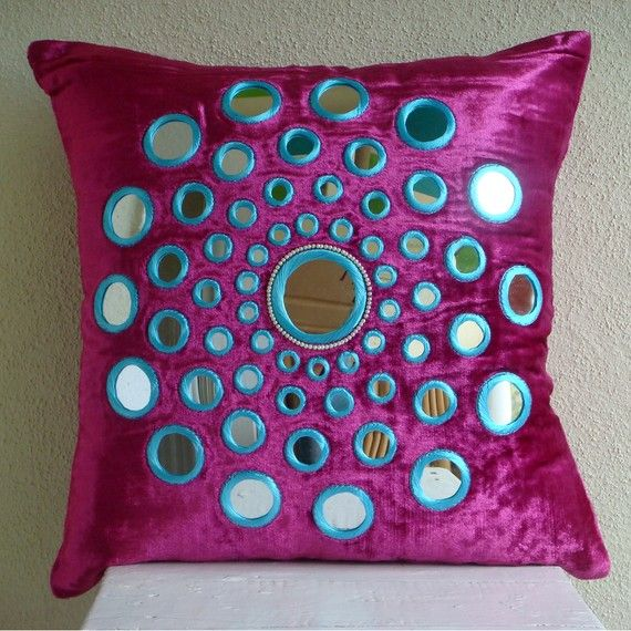 Fuchsia Pink Decorative Pillow Cover 16x16 by TheHomeCentric