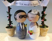 Reserved Listing - Custom All You Need Is Love Wedding Cake Topper Base  - Toppers SOLD SEPARATELY