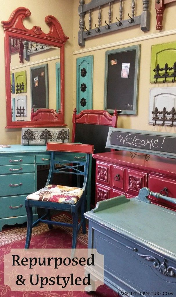 Repurposed U0026 Upstyled Furniture From Facelift Furniture. Vintage Pieces  Transformed And Given A Whole New