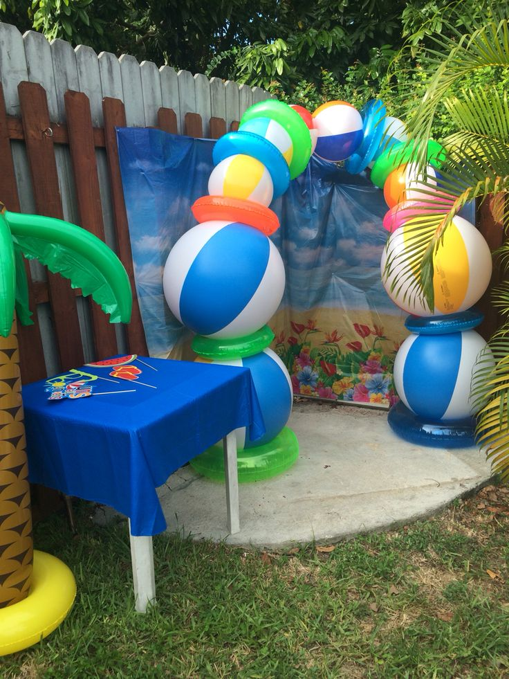 20 best images about beach themed party on pinterest for Pool photoshoot ideas