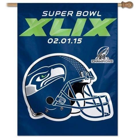 "NFL Seattle Seahawks Wincraft Super Bowl XLIX 27"" x 37"" Vertical Flag"