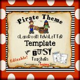 Pirate Theme Newsletter Template - WORD