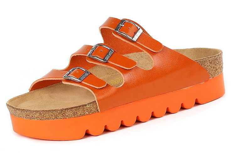 Chicside Women's Summer Buckle Leather Boots Orange 35 EU *** For more information, visit image link.