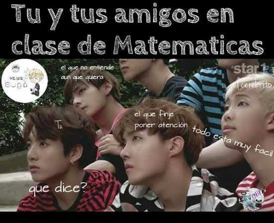 Si tan solo fuera Nam Joon en las matemáticas no estaría sufriendo xD