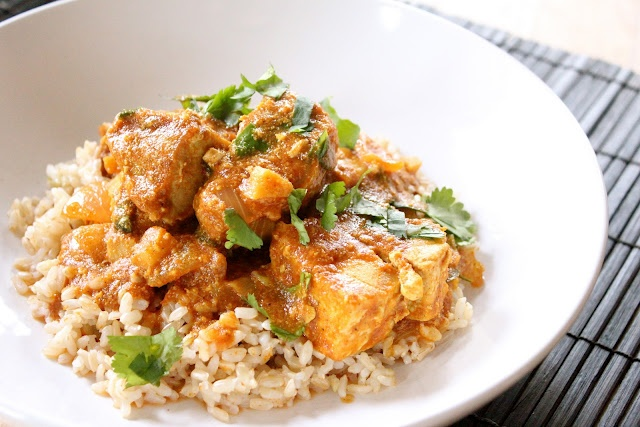 """""""Curried Tuna [or chicken breast or thighs, shrimp or just veggies] with Ginger and Yogurt"""": Brown Rice, Curries Tuna, Fish, Curries Powder, Eating, Tuna Steaks, Favorite Recipes, Greek Yogurt, Chicken Breast"""