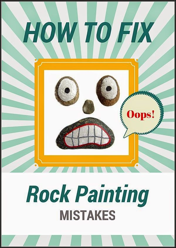 """Tips for """"erasing"""" paint mistakes on painted rocks."""