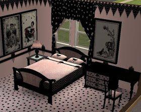 DORMITORIOS GOTICOS NEGRO RECAMARA GOTICA Y DECORACION GOTICA PARA LA HABITACION DE ESTILO GOTICO via www.dormitorios.blogspot.com