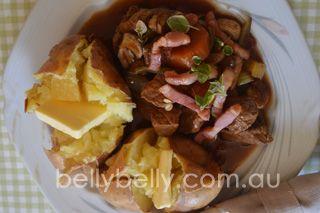 Easy beef casserole. Full recipe here: http://www.bellybelly.com.au/recipes-cooking/beef-casserole-easy-beef-casserole-recipe