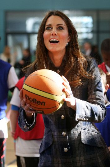 Happy Birthday Kate! The Duchess of Cambridge plays basketball at the Donald Dewer Leisure centre in Glasgow in 2013