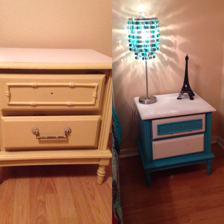 Emmas up cycled nightstand cute little hand me down for Cute nightstand ideas