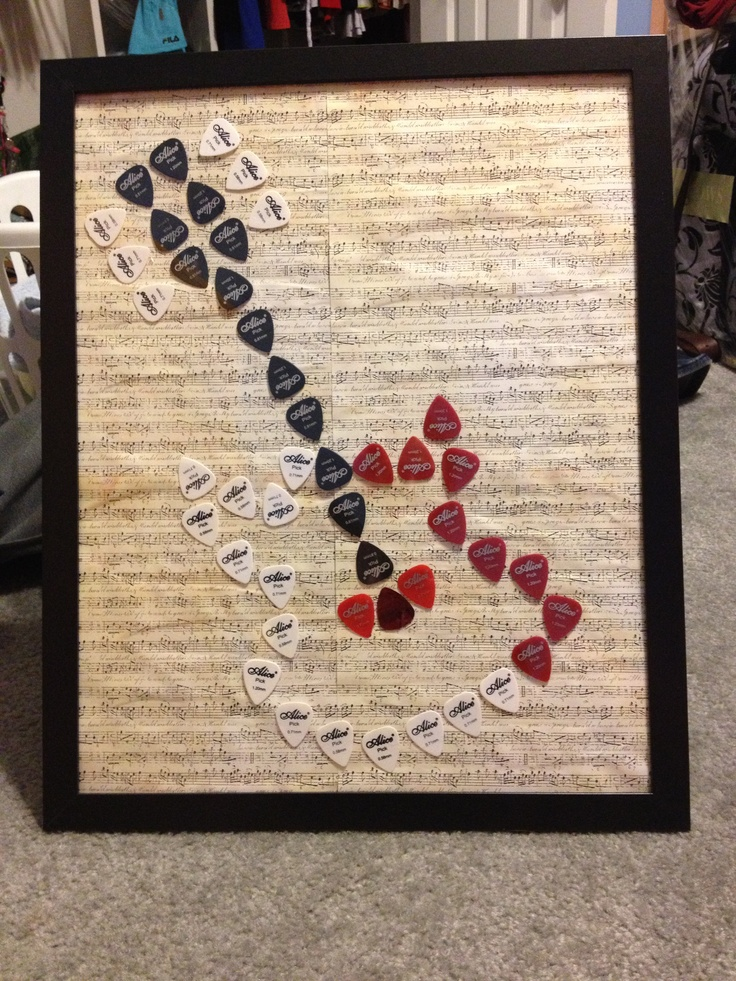 Guitar pick art!! Great for a gift :)