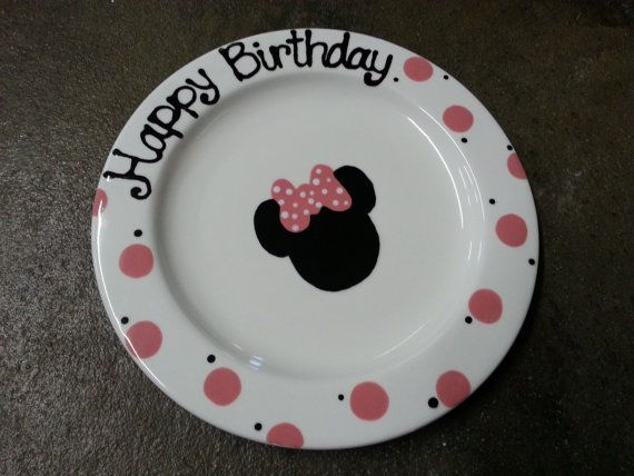 Ready to Ship  9 Hand Painted Ceramic Happy by BrushfireStudio, $16.00