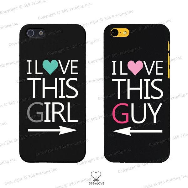 I Love This Girl and I Love This Guy Couples Matching Phone Cases for... ($15) ❤ liked on Polyvore featuring accessories and tech accessories