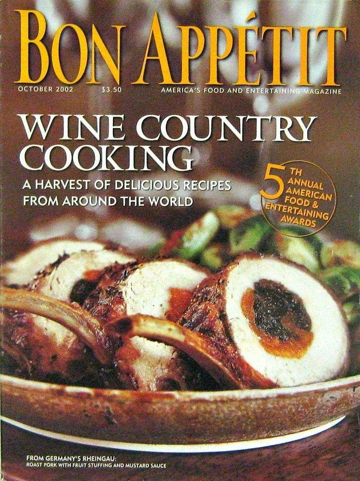 magazine bon appetit magazine 2002 volume volume 47 recipes bon ...