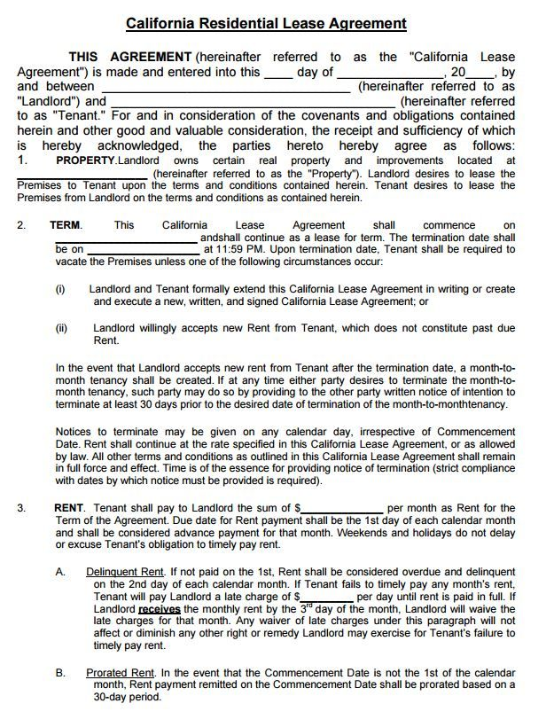 Free Residential Lease Agreement Template Pdf Rental Agreement Lease Agreement Rental Agreement Templates Contract Template