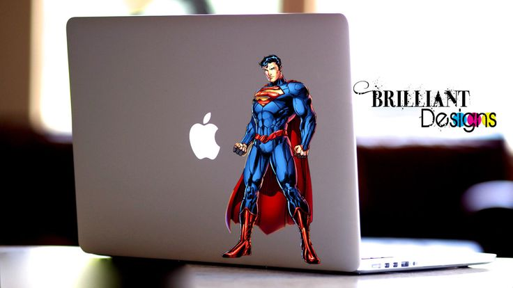Superman Decal, Superman Macbook Decal, Superman Sticker, Super man, Superman Skin, Superman MacBook Pro Decal, DC Comics Decal by BrilliantDesignsShop on Etsy https://www.etsy.com/listing/252564837/superman-decal-superman-macbook-decal