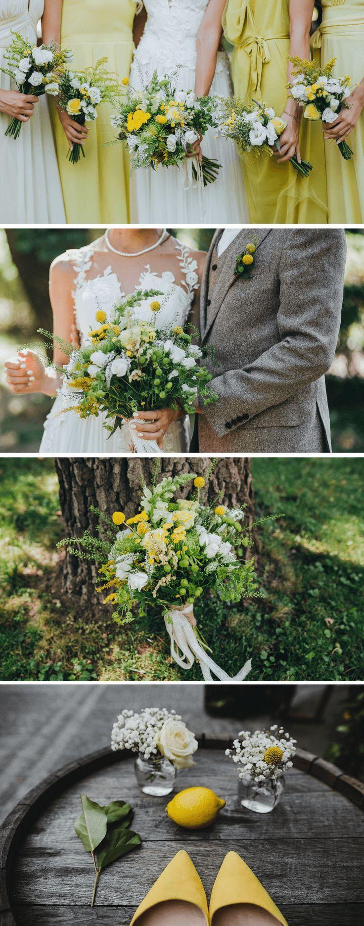 Hochzeit in Gelb: 40 stilvolle und kreative Deko-Ideen
