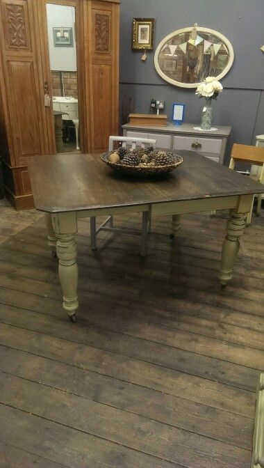 Solid mahogany dining table £245