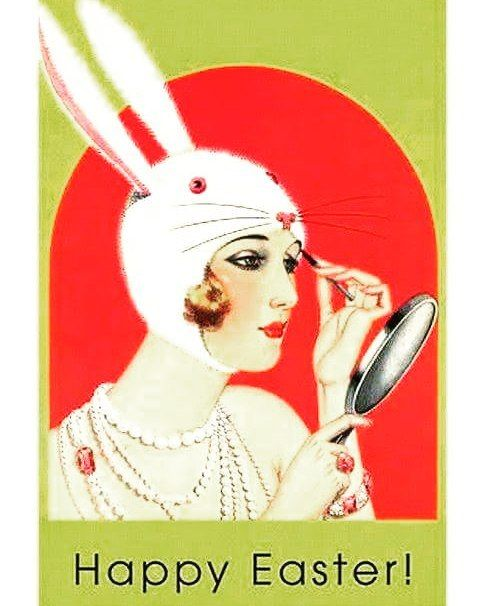 Paste fericit! Happy Easter! Felices Pascuas!  #easter #bunny #makeupheat #makeupartist  #vintage #postcard