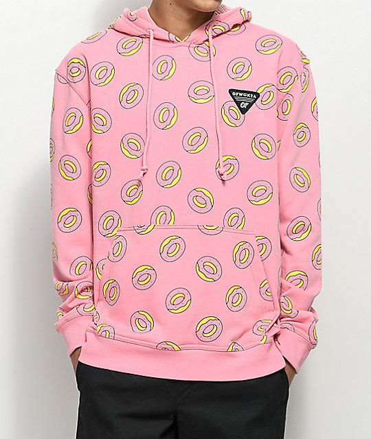 5d694ae2b99f Odd Future Allover Donut Pink Hoodie