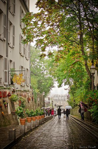 Monmartre- Great place to stay when visiting Paris - very relaxed with a bohemian feel.