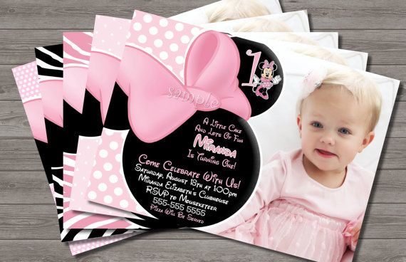 HUGE SELECTION Minnie Mouse Invitation  by MyCelebrationShoppe, $10.00