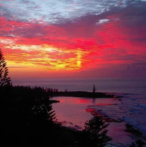 Sunrise on Norfolk Island by Gaye Evans