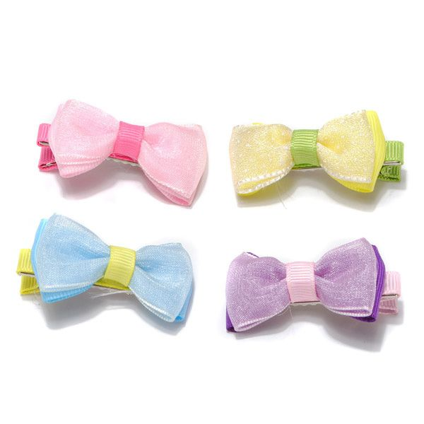 Pet Lovely Bow Hairpin Various Colors