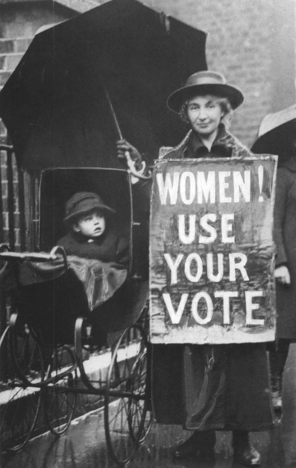 [Women's Rights] Encouraging women to exercise their right to vote.