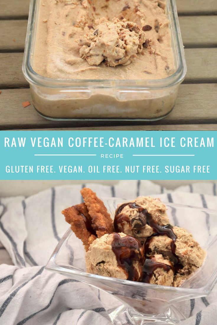 raw vegan coffee caramel ice cream sugar free recipe