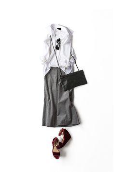 Kyoko Kikuchi's Closet   今のシルエットで楽しむ白シャツのスタイル