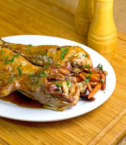 Roasted Turkey Drumsticks and Carrots by The Midnight Baker