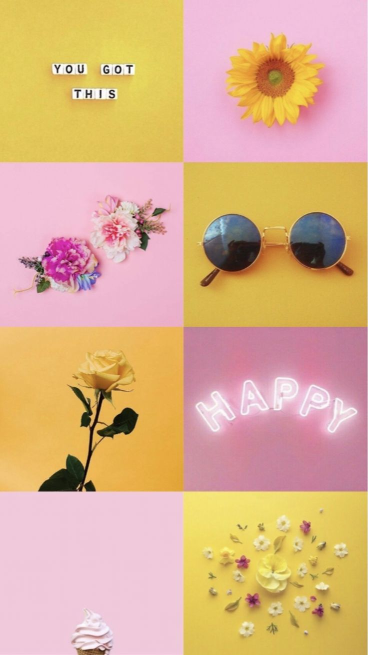 Yellow & Pink 💐 | Pink wallpaper iphone, Aesthetic iphone ...