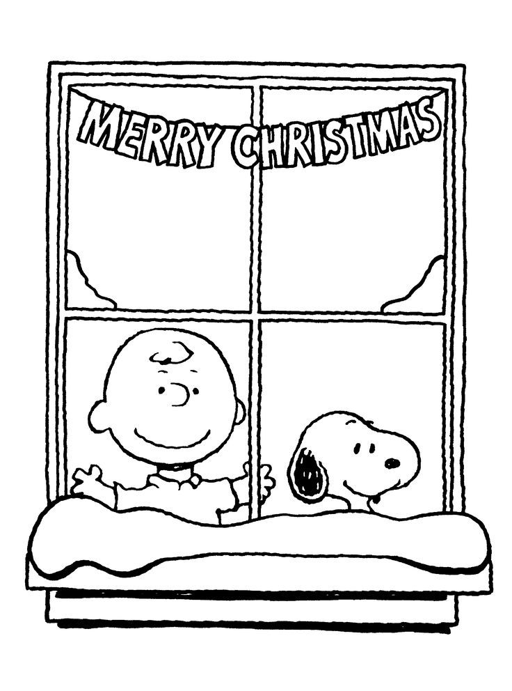 Charlie Brown Christmas Coloring Sheets