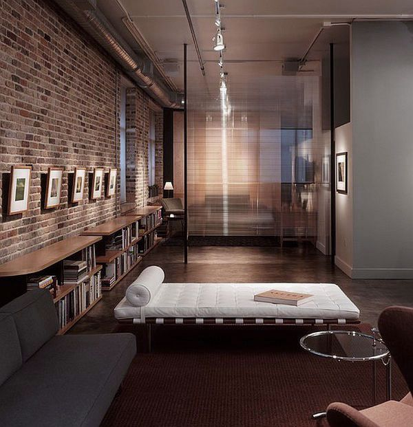 Exposed Brick Modern Industrial Living Room Design Ideas Part 67