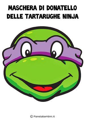 Maschera di Donatello delle Tartarughe Ninja da stampare e ritagliare gratis