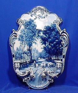 Delft blue and white plaque.