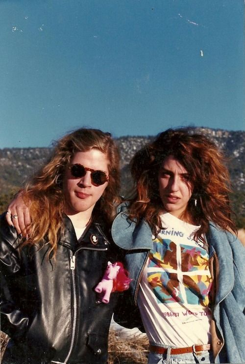 Late Mother Love Bone frontman Andrew Wood and his fiancée Xana La Fuente.