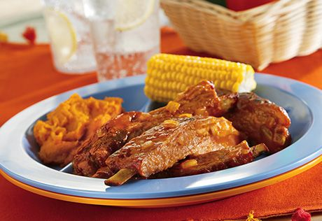 these oven-baked ribs any time of year...and the spicy barbecue sauce ...