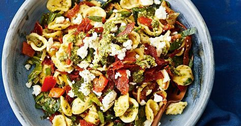 Treat yourself to this crispy salami pasta and you'll think you're in Italy, living like royalty.