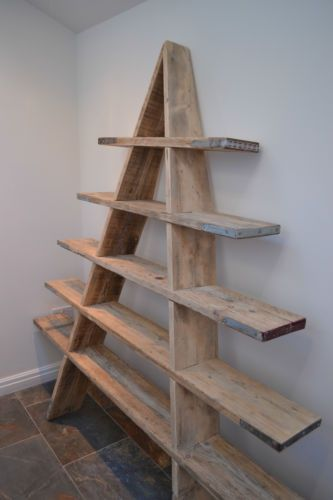 Scaffolding Board Shelving Ladder - reclaimed | eBay