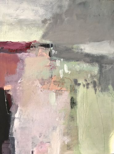 Before the Rain-abstract by Joan Fullerton Acrylic ~ 40 x 30